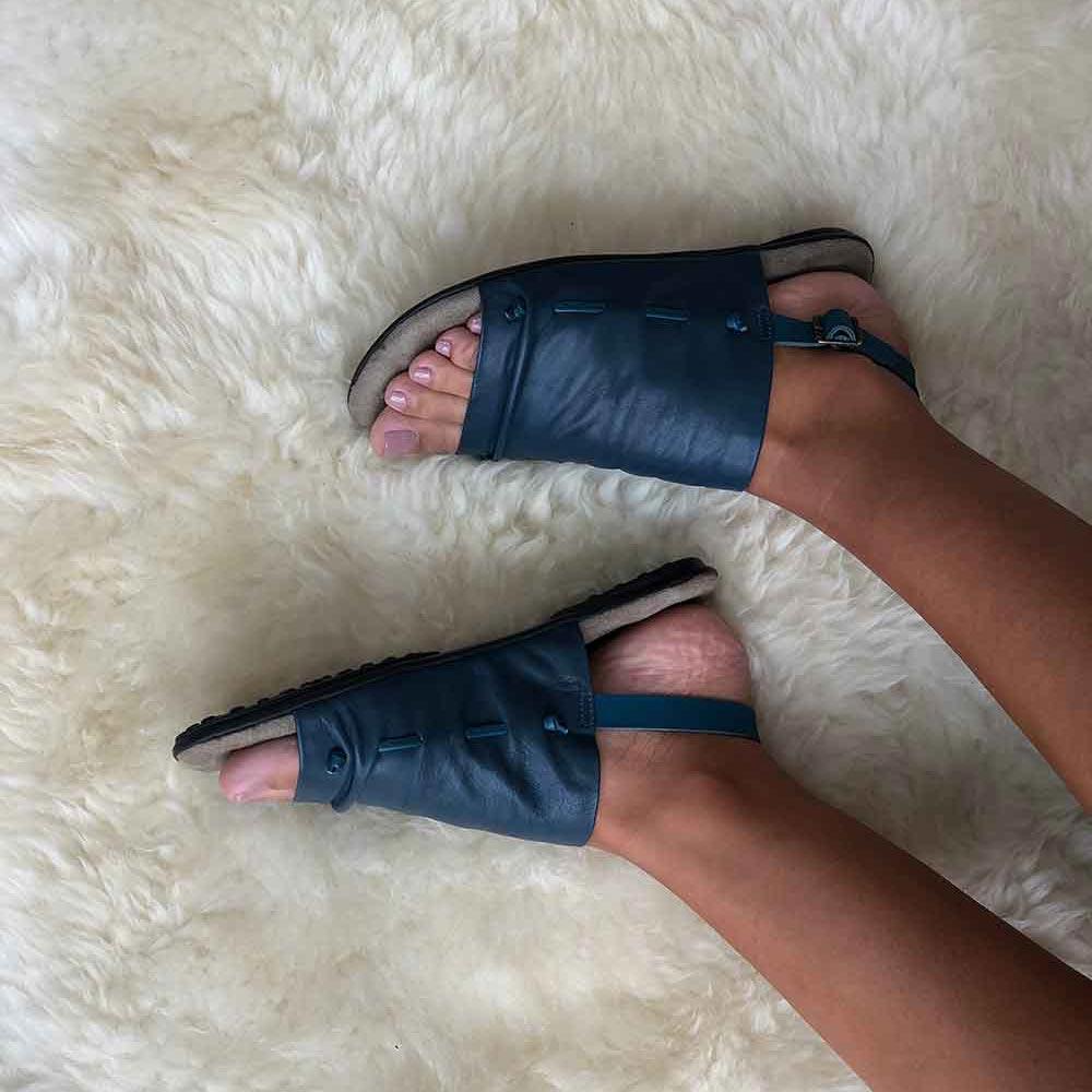 Sandália rasteira linha conforto