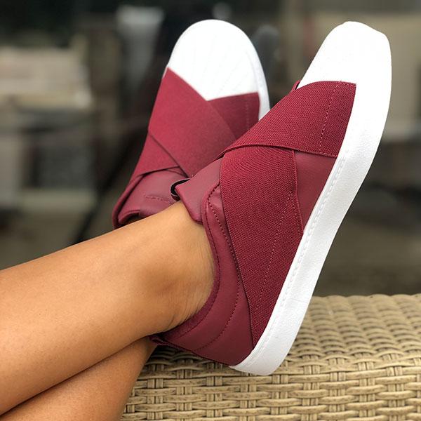 Sapatênis bico redondo c/ elástico