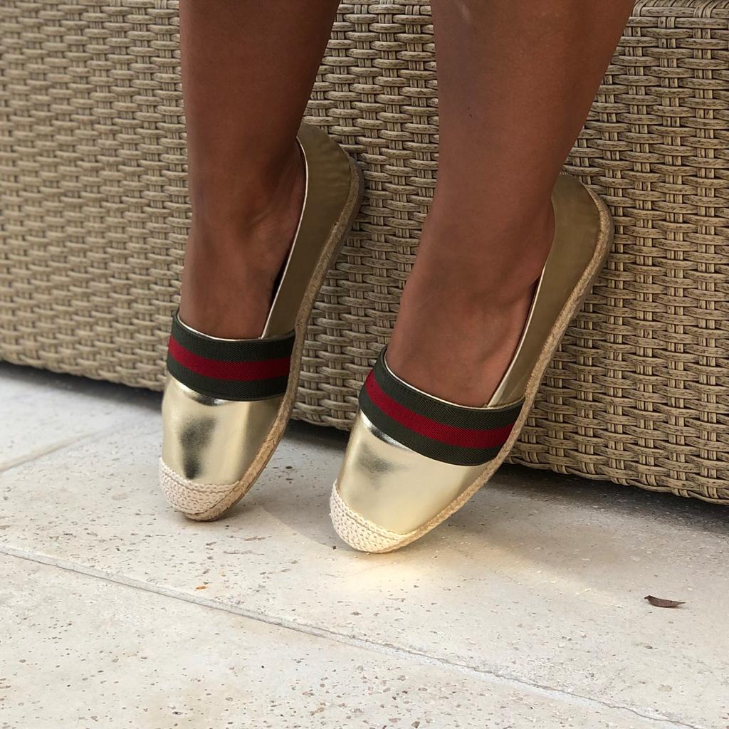 Sapato alpargata bico fino sola espadrilhe
