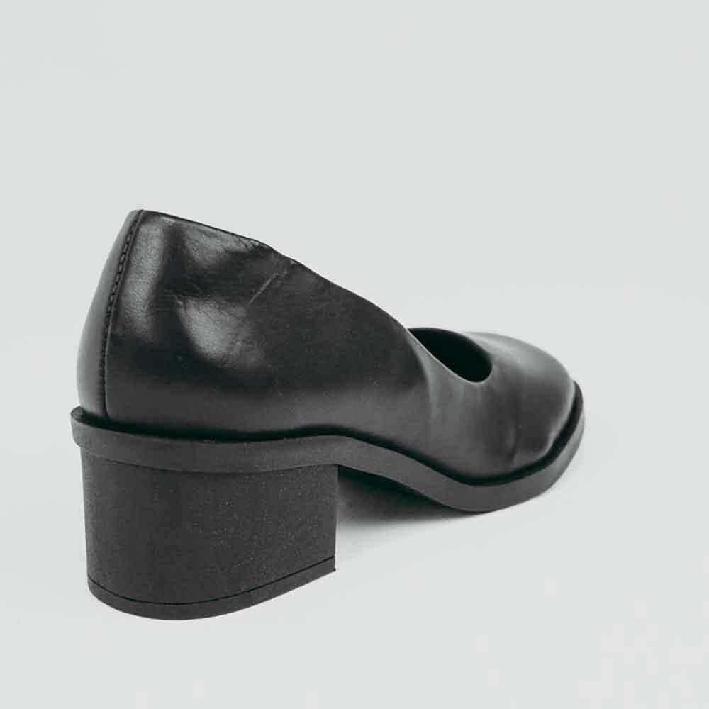 Sapato Boneca Confort salto baixo grosso bico quadrado