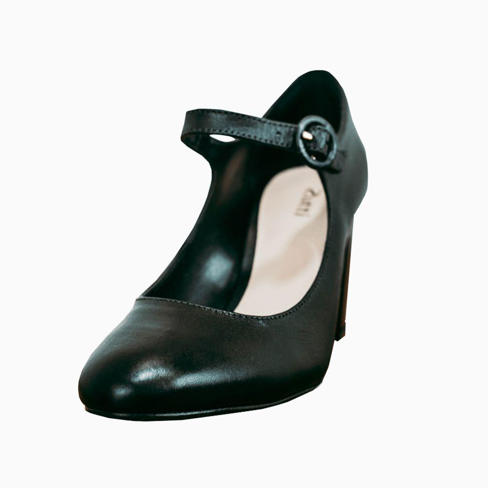 Sapato Boneca salto grosso bico redondo
