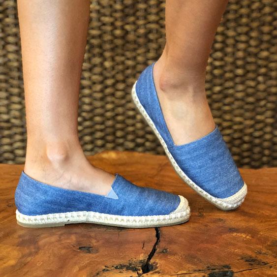 Sapato espadrille com detalhe crochet