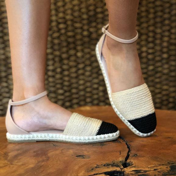 Sapato espadrille crochet