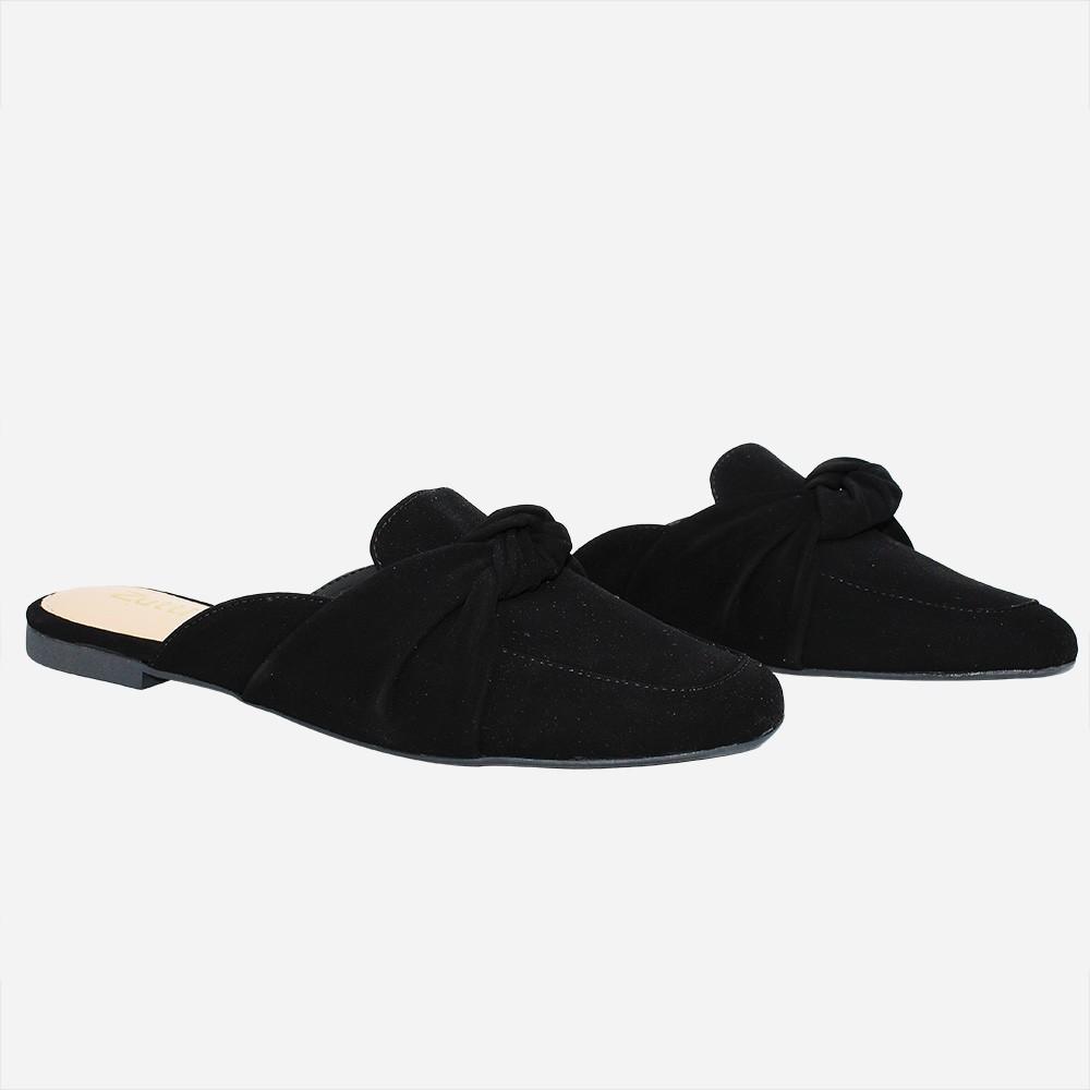 Sapato Mule bico quadrado c/ laço