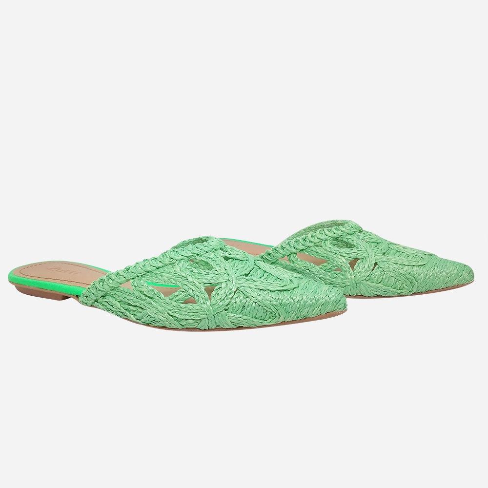 Sapato Mule bordado