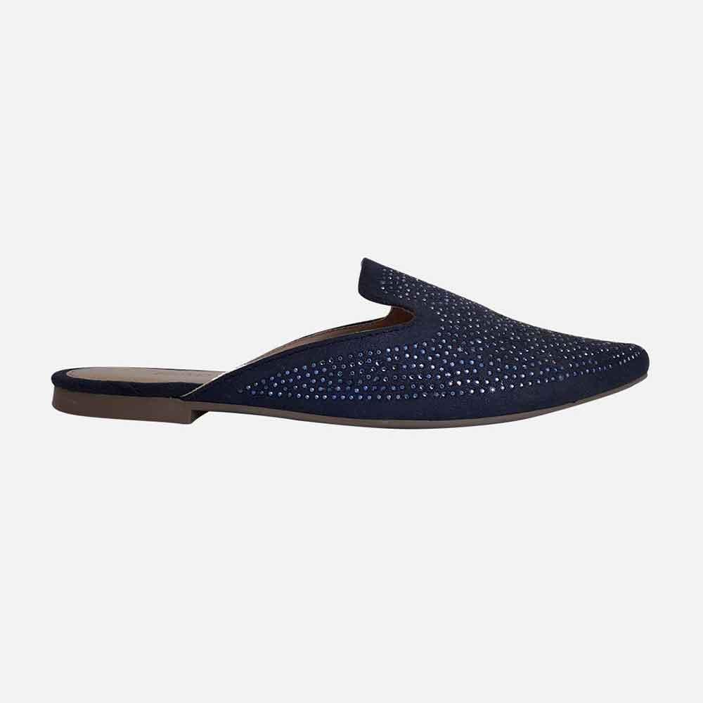 Sapato Mule com detalhes hotfix