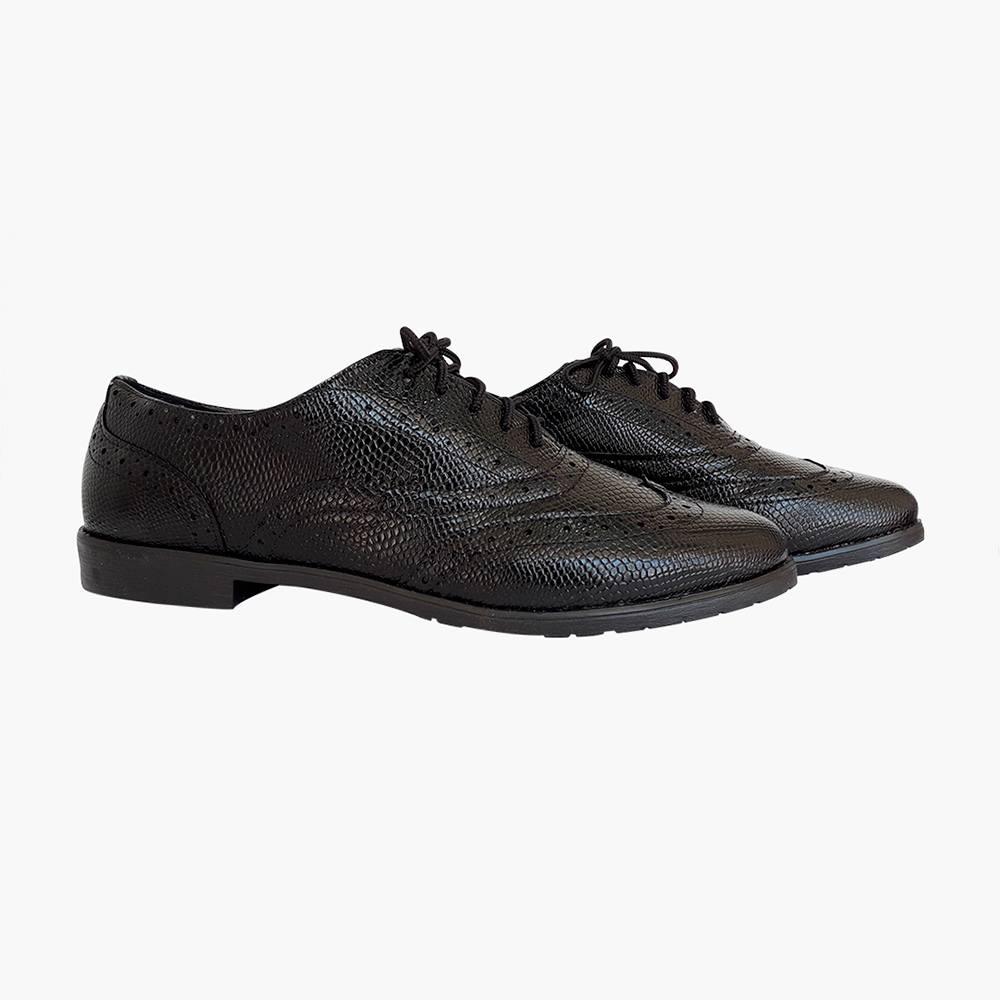 Sapato oxford bico redondo