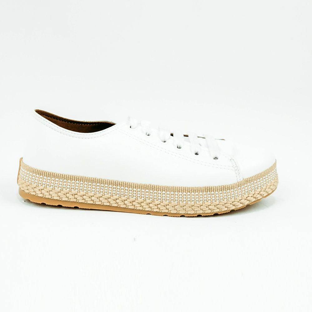 Sapato sapatênis bico redondo sola baixa espadrilhe