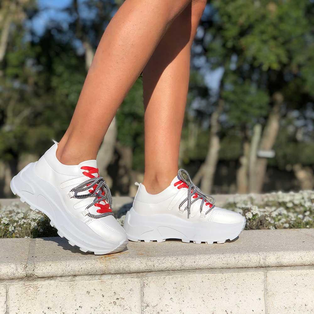 Sapato sapatenis Chunky bico redondo