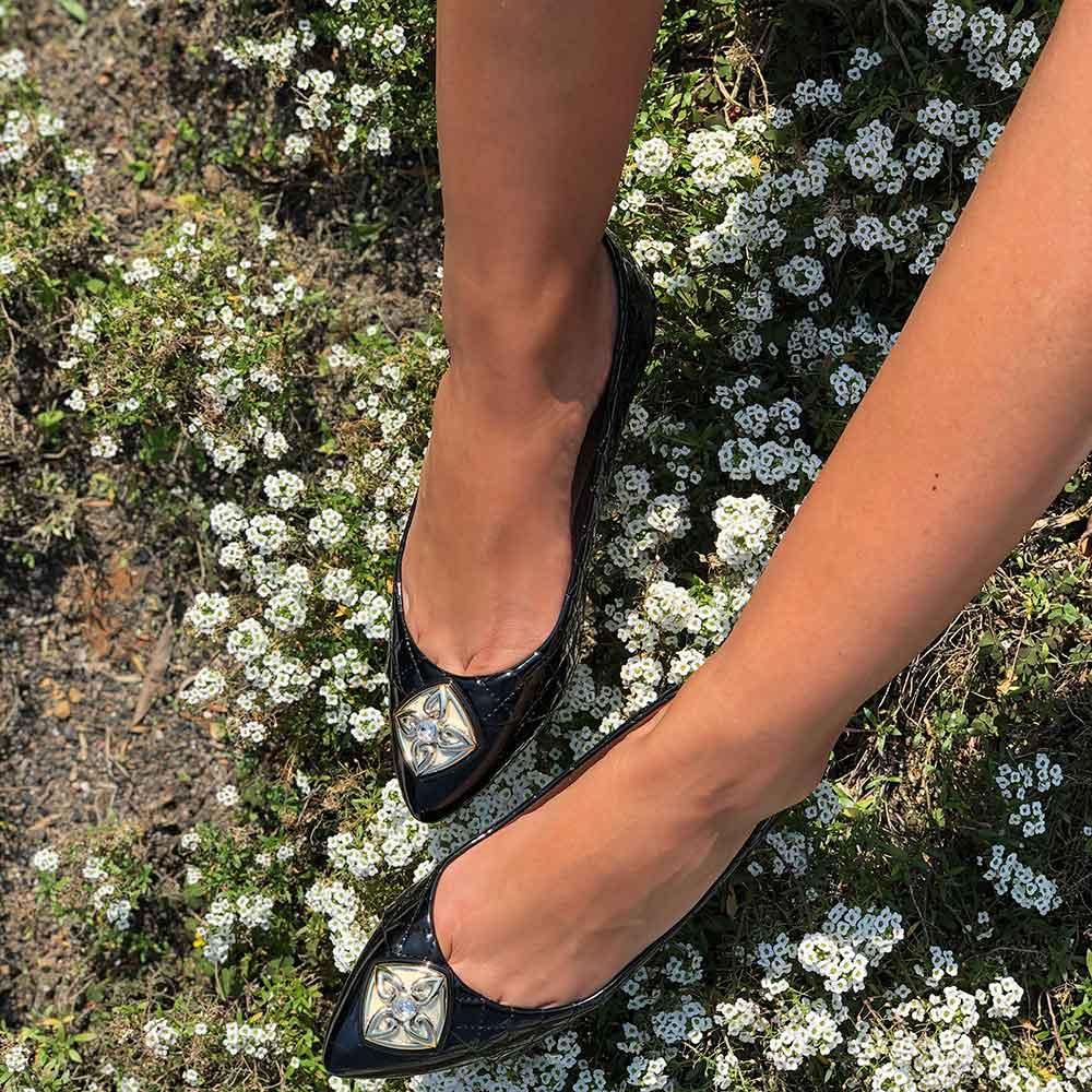 Sapato sapatilha bico fino