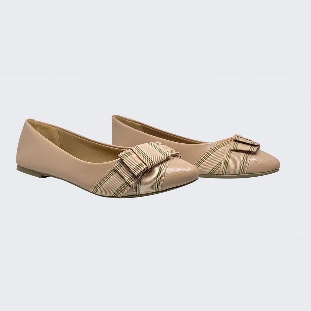 Sapato Sapatilha bico fino com detalhe laço