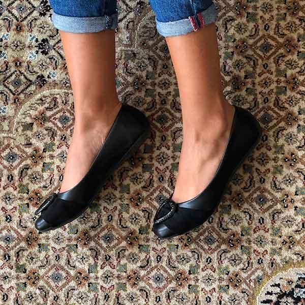 Sapato sapatilha bico redondo