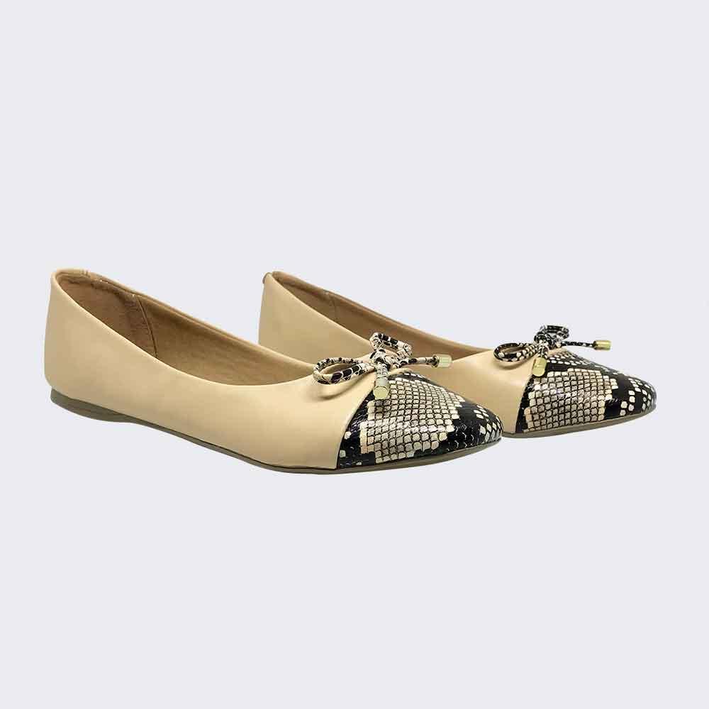 Sapato sapatilha bico redondo c/ detalhe laço