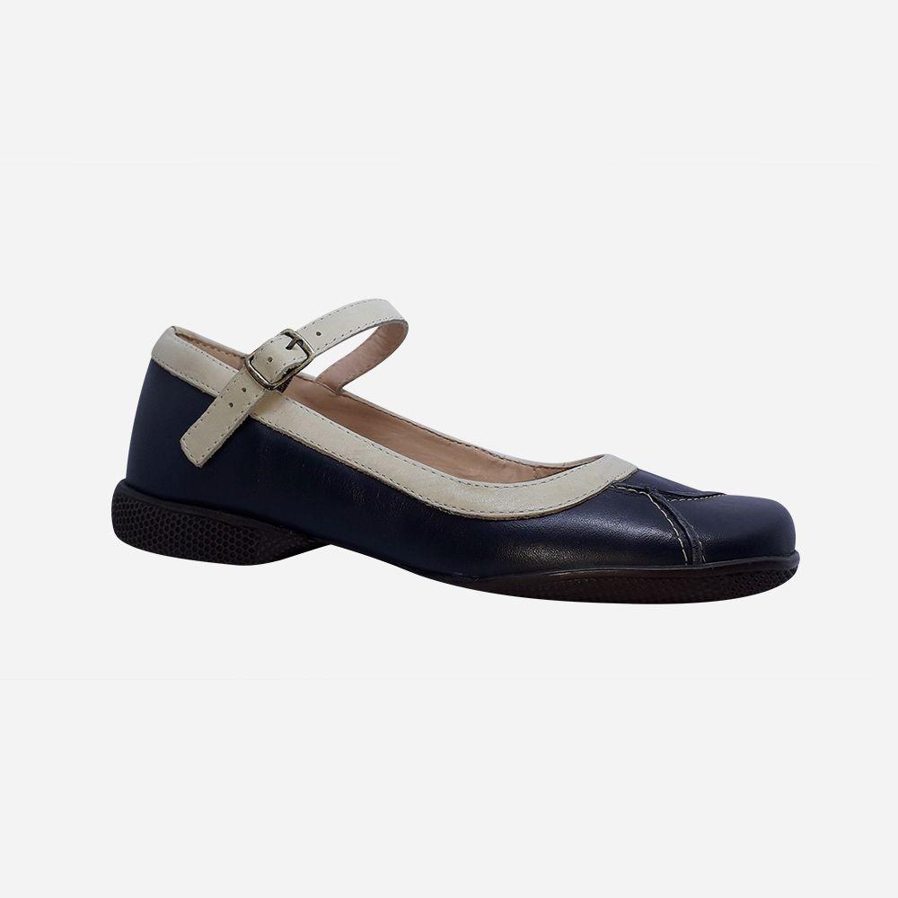 Sapato sapatilha linha conforto bico redondo
