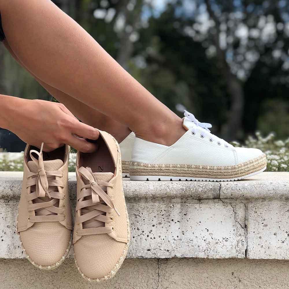 Sapato saptênis sola espadrilhe bico redondo