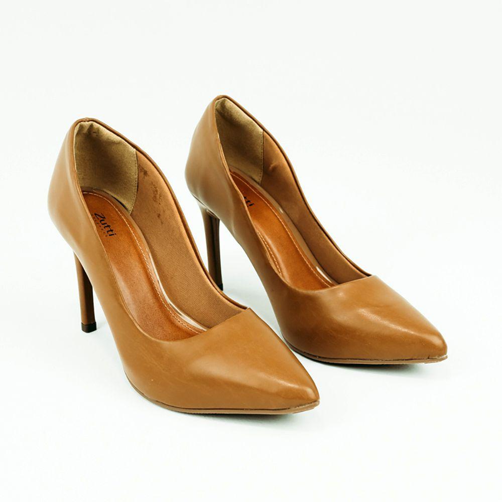 Sapato Scapin salto alto fino bico fino