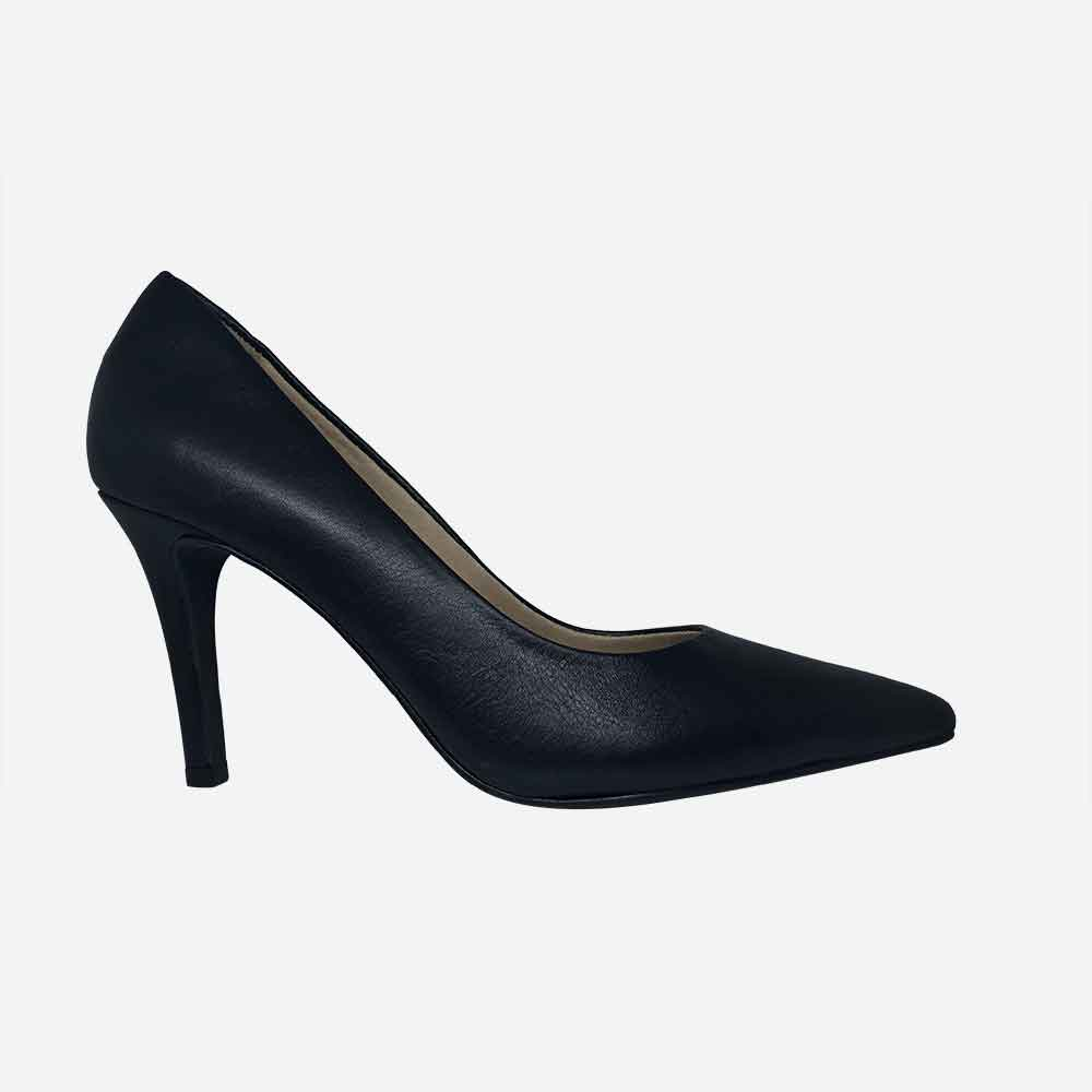 Sapato Scarpin bico fino salto alto fino
