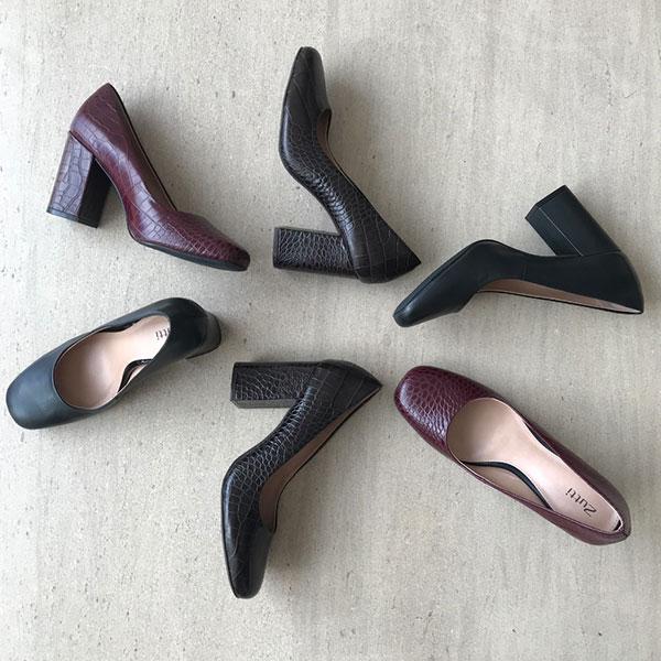 Sapato Scarpin bico fino salto grosso médio