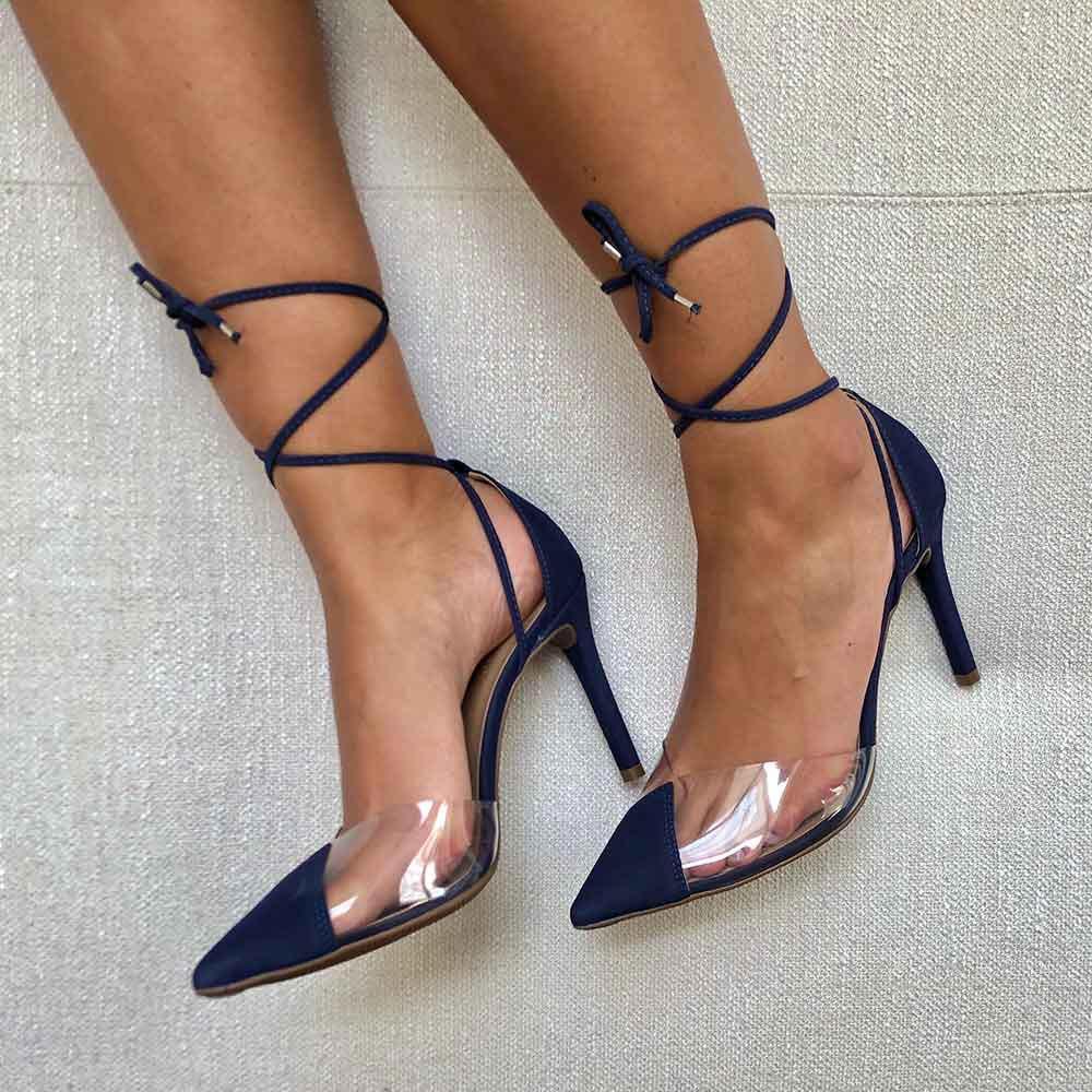Sapato Scarpin bico fino salto médio fino