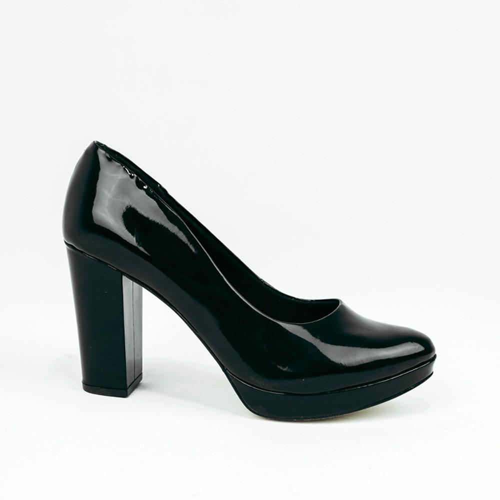 Sapato Scarpin salto alto meia pata bico fino