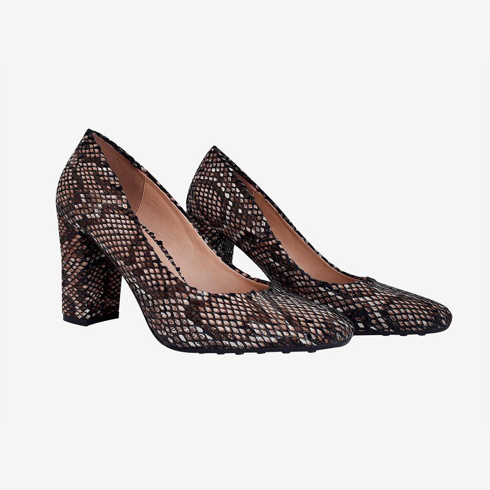 Sapato Scarpin Salto Médio bico redondo