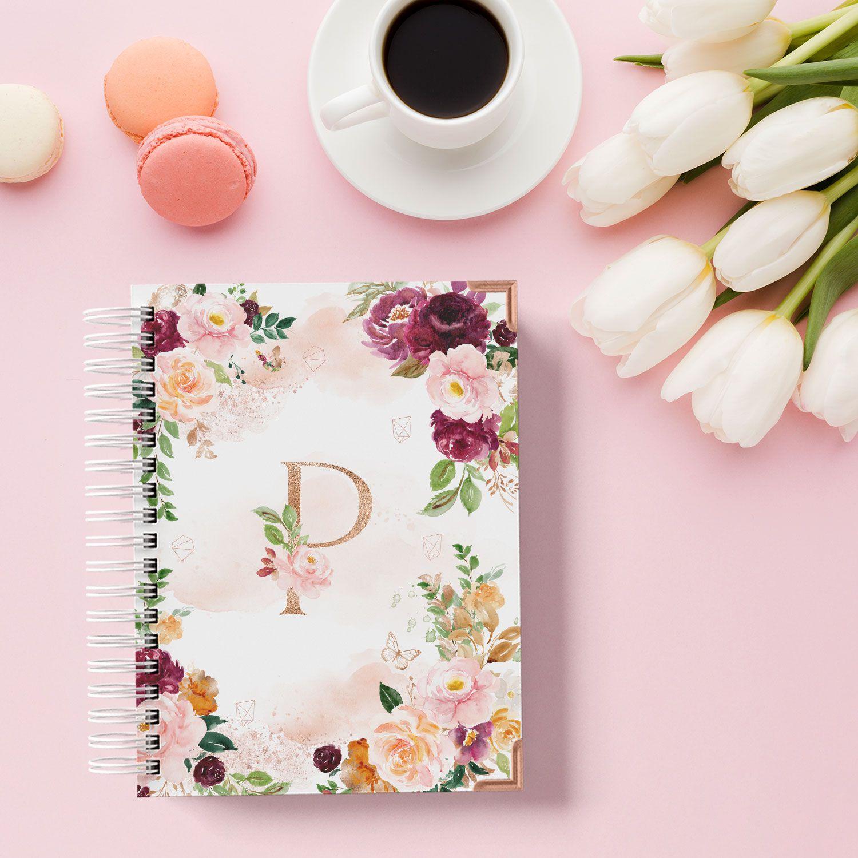 Caderno Devocional Floral
