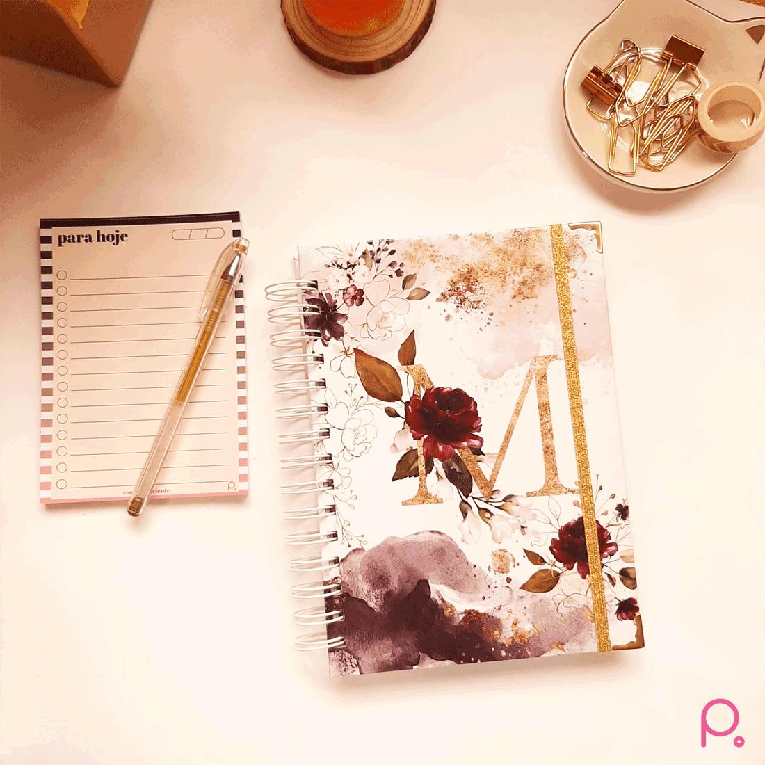 Caderno Floral Alfabeto