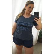 T-shirt Estonada Made it Azul
