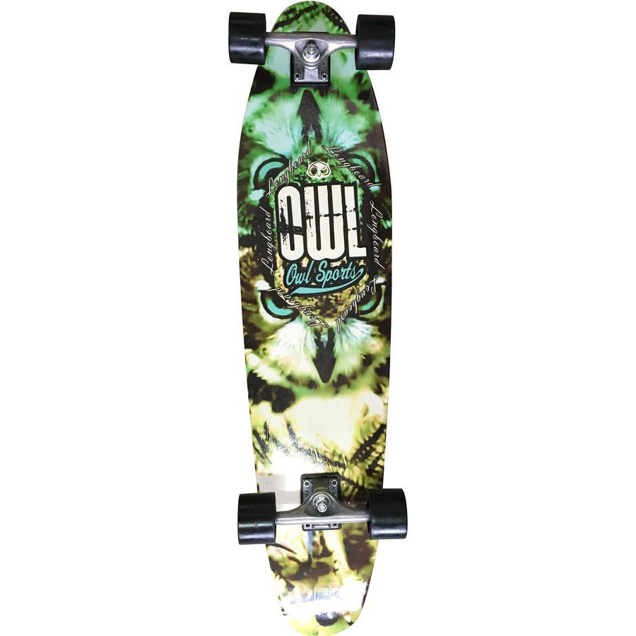 "Skate Longboard Completo Owl Sports Two-Face Prancha 40"" X 10"""