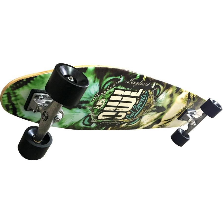 """Skate Longboard Completo Completo Owl Sports Two-Face Prancha 40"""" X 10""""  - OWL Sports"""