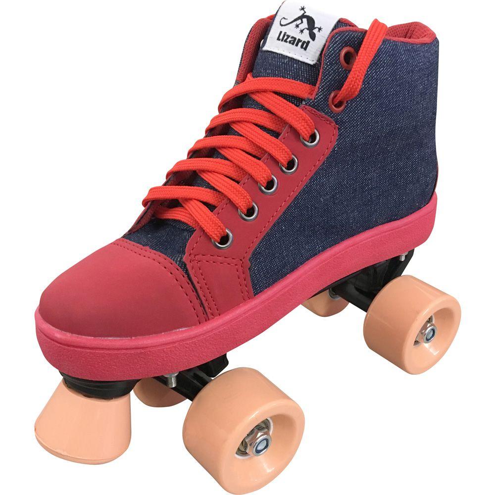 Patins Quad OWL Sports Infantil (Jeans / Vermelho)