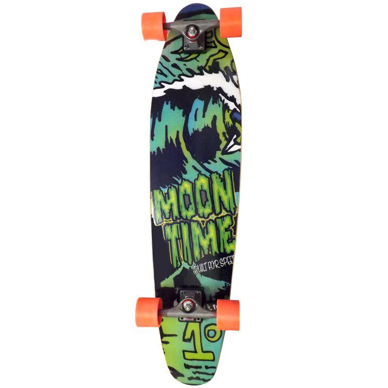 Skate Longboard Completo Moon Time Life Game Prancha  - OWL Sports
