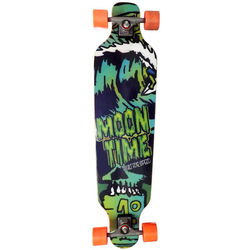 Skate Longboard Moon Time Life Game Speed