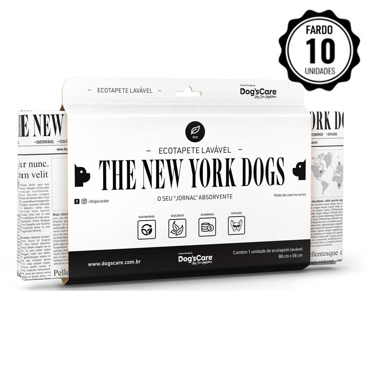 FARDO COM 10 UNIDADES ECO TAPETE HIGIÊNICO LAVÁVEL THE NEW YORK DOGS