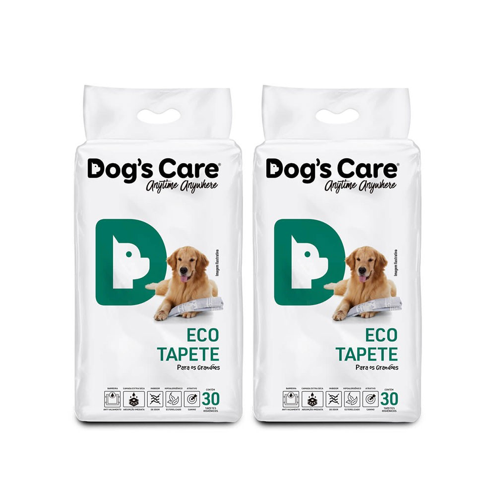 Kit 02 Eco Tapete Higiênico Grande Porte Dog's Care