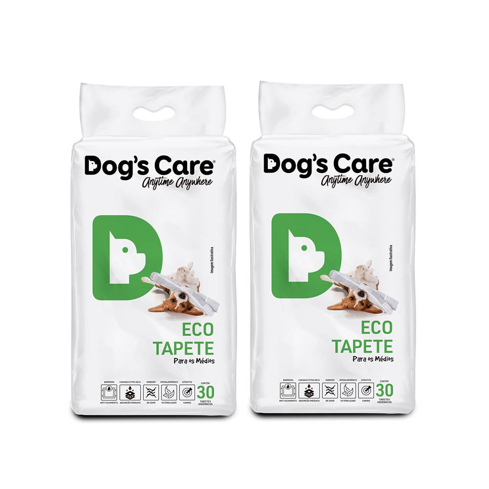 Kit 02 Eco Tapete Higiênico Médio Porte Dog's Care