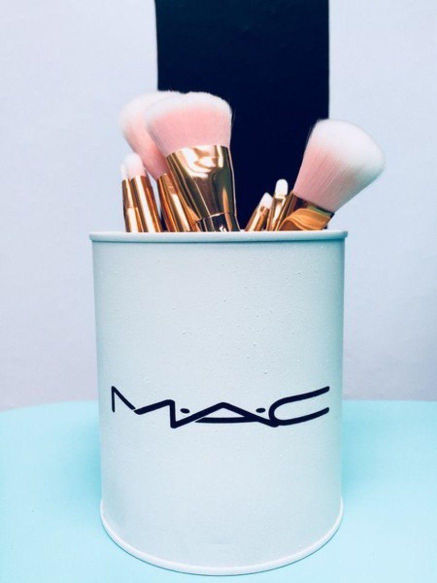 Lata porta Pincel Mac Inspired Branco