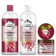 Combo Ghair Botânica Colorido Shampoo, Condicionador e Máscara