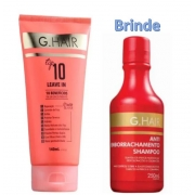G.Hair Top 10 - Leave-in 140ml + Shampoo Antiemborrachamento (Emb. Antiga)