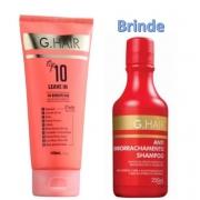 G.Hair Top 10 - Leave-in 140ml + Shampoo Antiemborrachamento (Emb. Antiga)