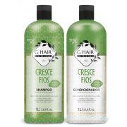 Ghair Kit Cresce Fios Shampoo e Condicionador Litro