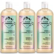 Ghair Kit Escova Alemã 3x1L + Brinde Shampoo