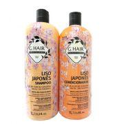Ghair Kit Liso Japonês Shampoo e Condicionador Litro