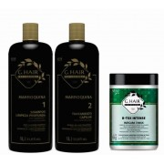 Kit Escova Ghair Alemã 3x1 Litro + B-tox Intense Kg