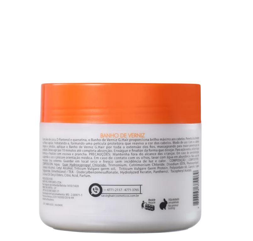 Combo Ghair Kit Marroquina + Banho de Verniz 500g  - Loja Ghair Cosmeticos