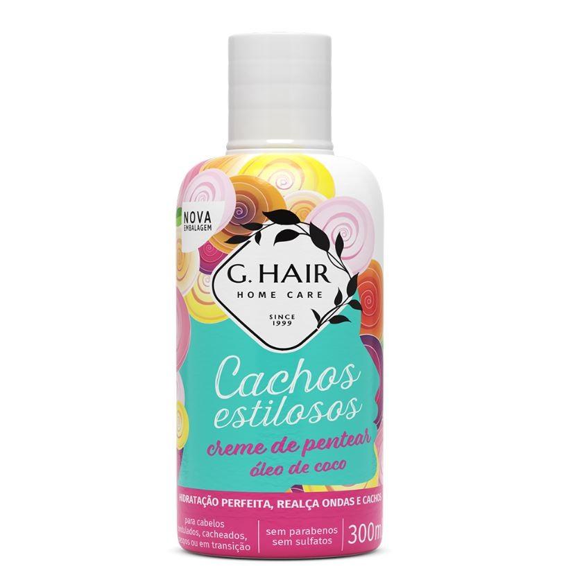 G.Hair Cachos Estilosos - Creme de Pentear 300ml  - Loja Ghair Cosmeticos