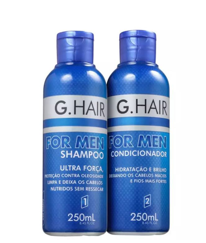 G.Hair For Men - Shampoo e Condicionador 250ml  - Loja Ghair Cosmeticos
