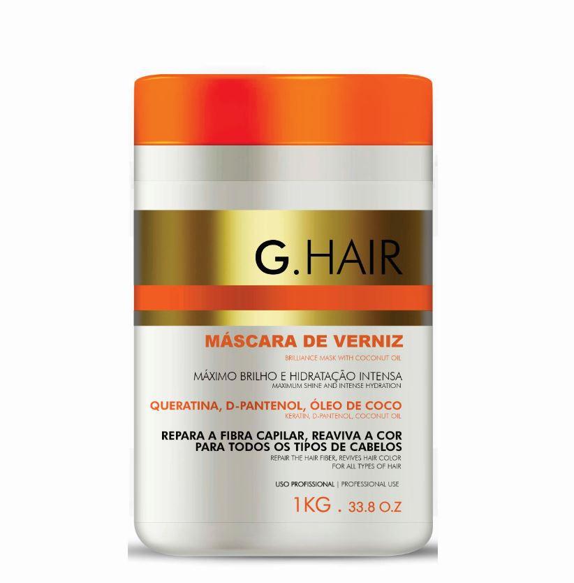 G.Hair Máscara de Verniz - Máscara Capilar 1000g  - Loja Ghair Cosmeticos