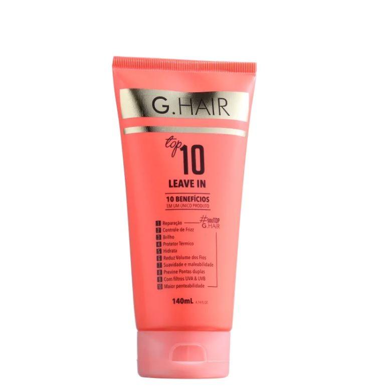 G.Hair Top 10 - Leave-in 140ml  - Loja Ghair Cosmeticos