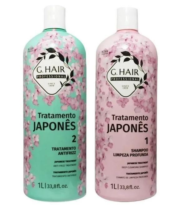 Ghair Escova Tratamento Japonês 2x1 Litro + Óleo 7ml Brinde  - Loja Ghair Cosmeticos